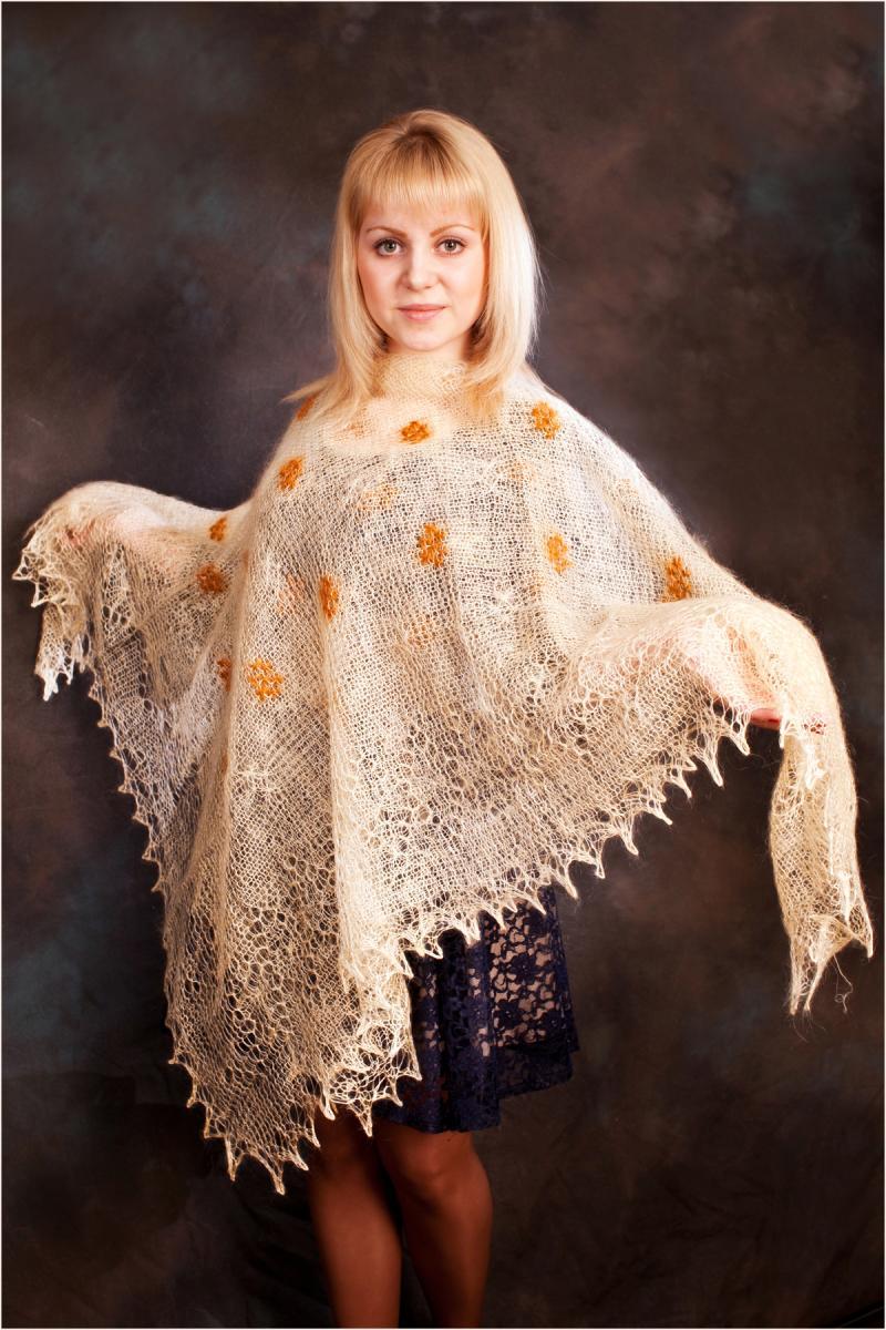 сколько стоит оренбургский платок цена