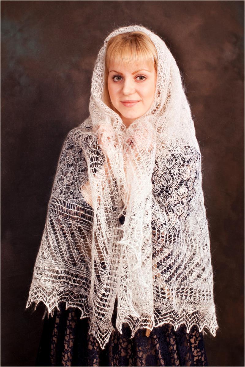 оренбургский пуховый платок схема